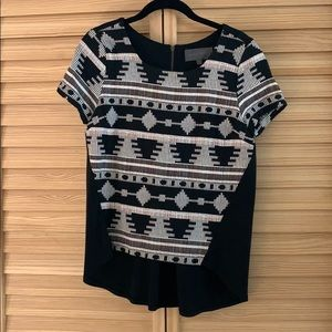 Anthropologie high low tribal top